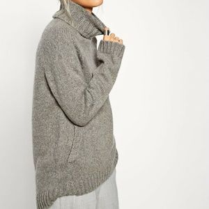 Asos White Oversized Sweater With Front Pockets